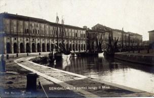 SENIGALLIA fiume misa navigabile Portici Ercolani 1907