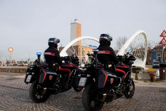 FANO Carabinieri Moto Ponte Lido3
