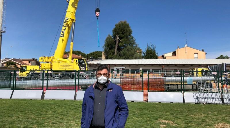 Lo stadio Mancini ha un nuovo impianto di illuminazione più efficiente e più potente