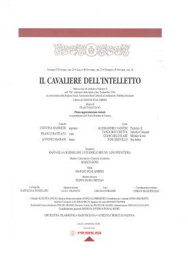 Teatro Pergolesi Jesi_Il cavaliere dell'Intelletto_ottobre 1994_locandina