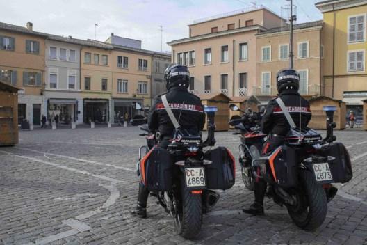 Carabinieri Fano Moto Piazza XX Settembre