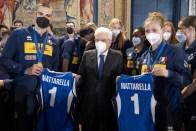 ROMA nazionali pallavolo ricevute Quirinale Mattarella2021-09-27 (1)