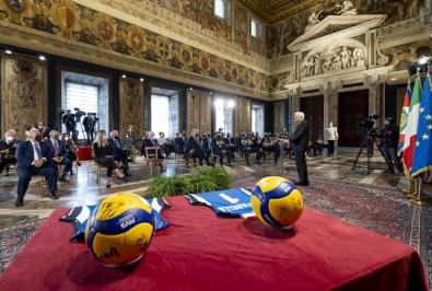 ROMA nazionali pallavolo ricevute Quirinale Mattarella2021-09-27 (15)