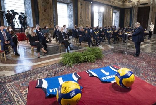 ROMA nazionali pallavolo ricevute Quirinale Mattarella2021-09-27 (4)