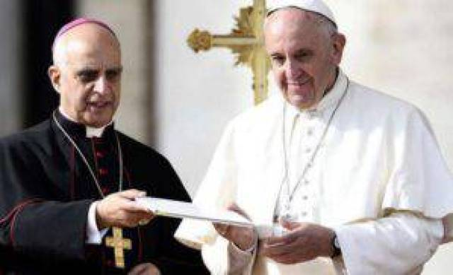 Pope Francis and Mons Rino Fisichella