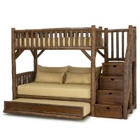Rustic Bunk Bed with Trundle and Stairs | La Lune Collection