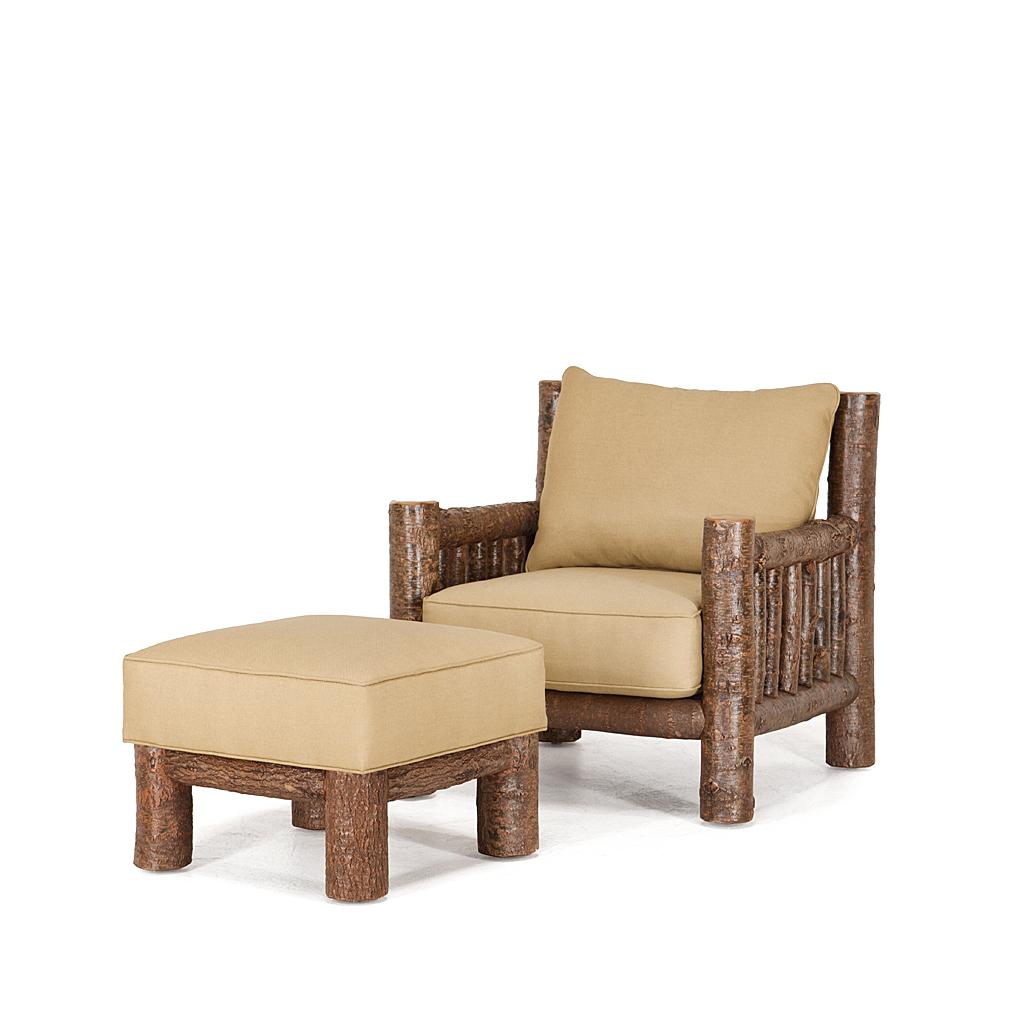 Rustic Lounge Chair  Ottoman  La Lune Collection