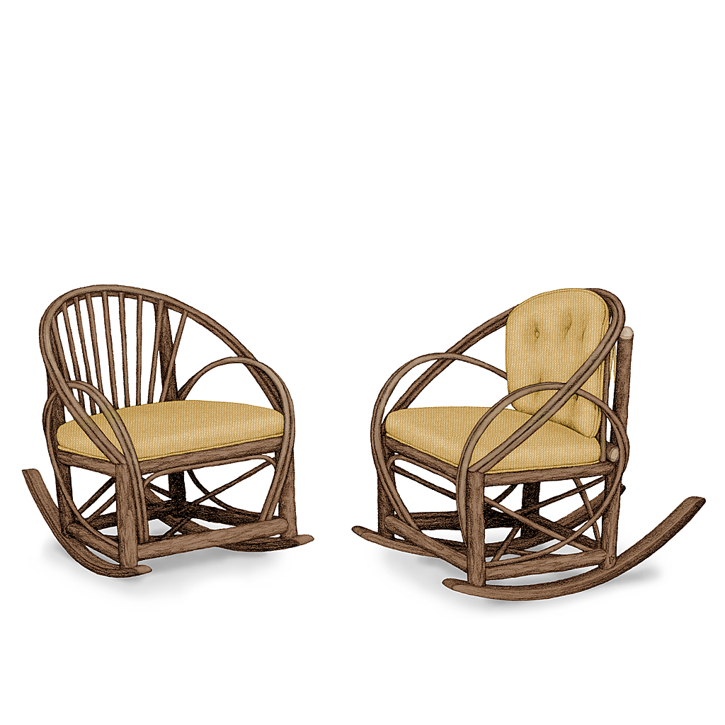 rustic rocking chair mid century wicker la lune collection