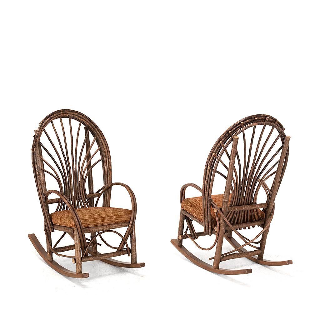 rustic rocking chair geriatric rental la lune collection