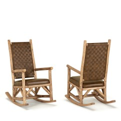 Rustic Rocking Chair Ergonomic With Footrest La Lune Collection