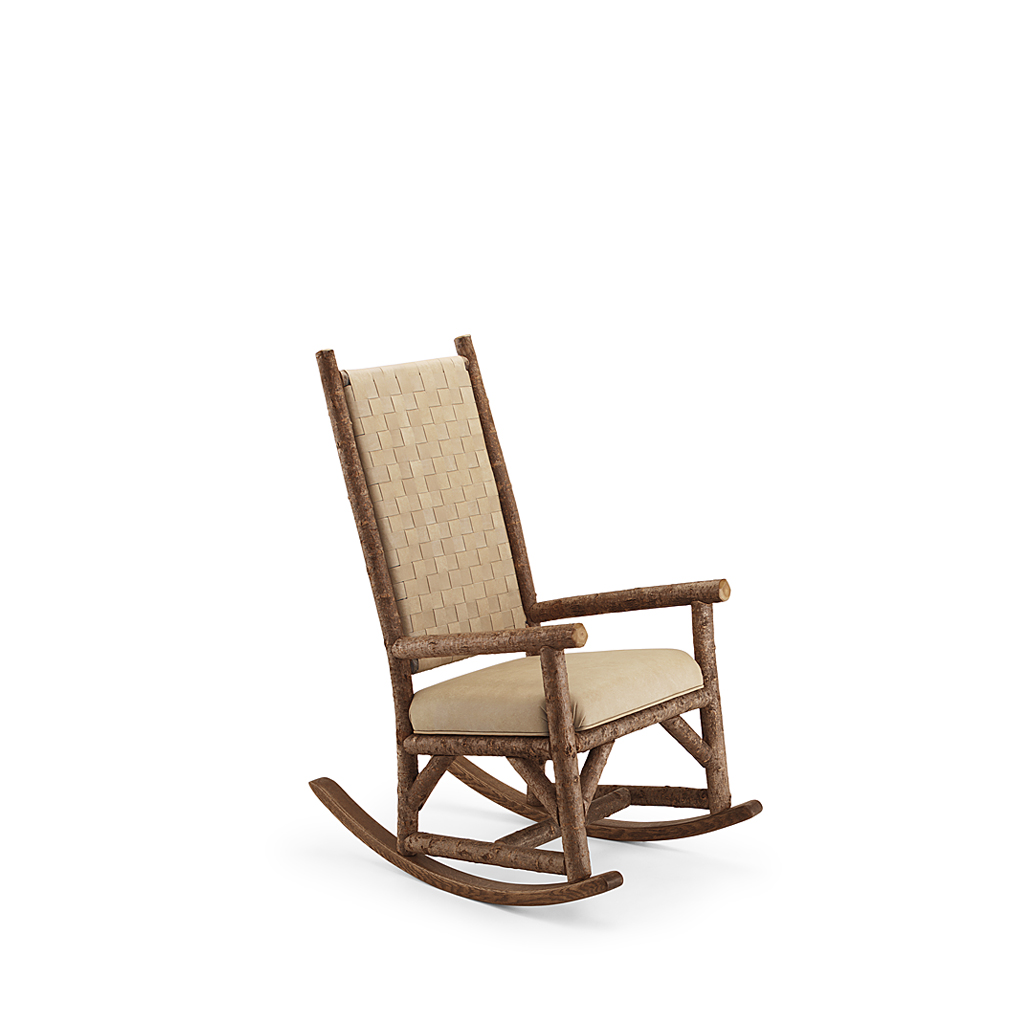 rocking chair leather and wood wheelchair jimmy meme rustic la lune collection