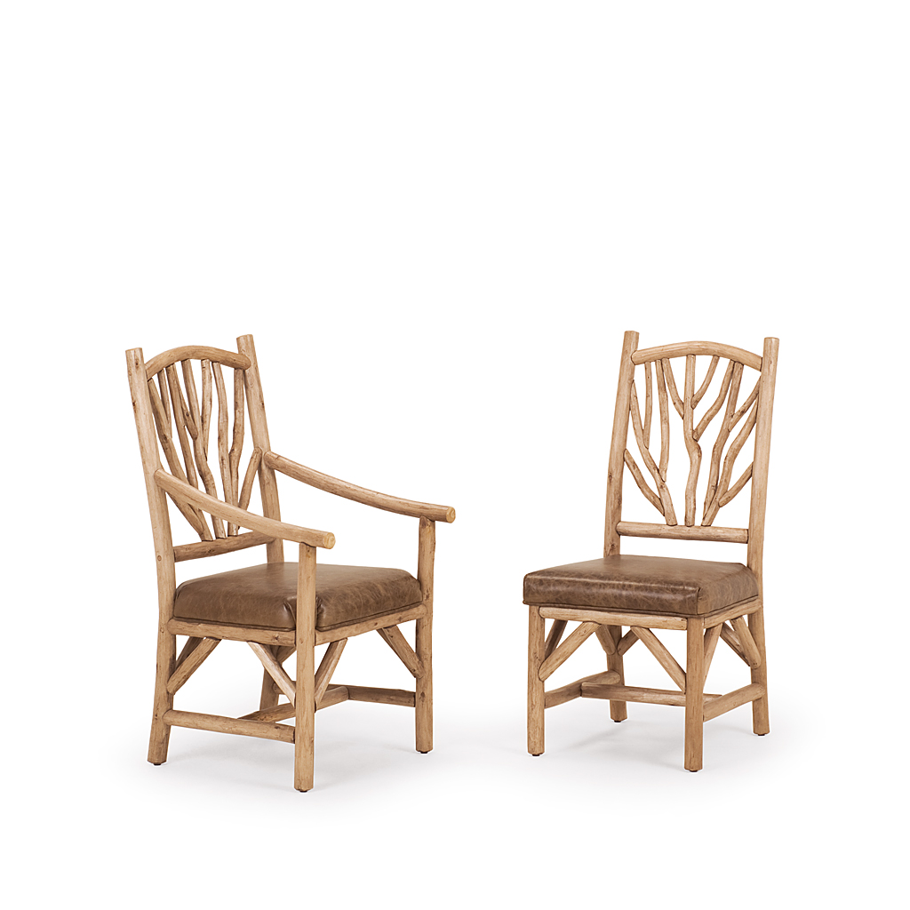 rustic dining chair posture operators side and arm la lune collection