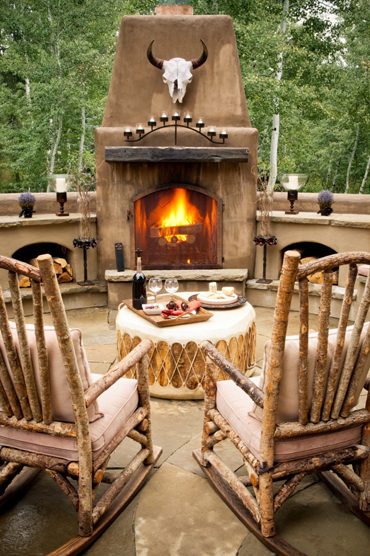 Rock On Making a Design Statement with Rustic Rocking Chairs