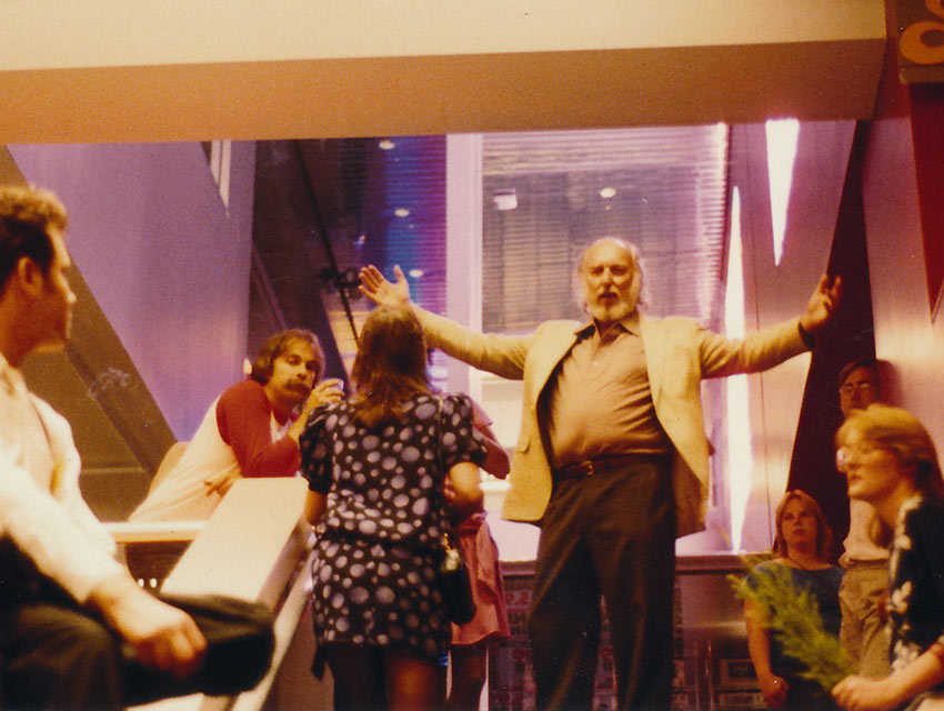 Tower Records founder Russ Solomon at the Tower Records store opening in New York in 1983.