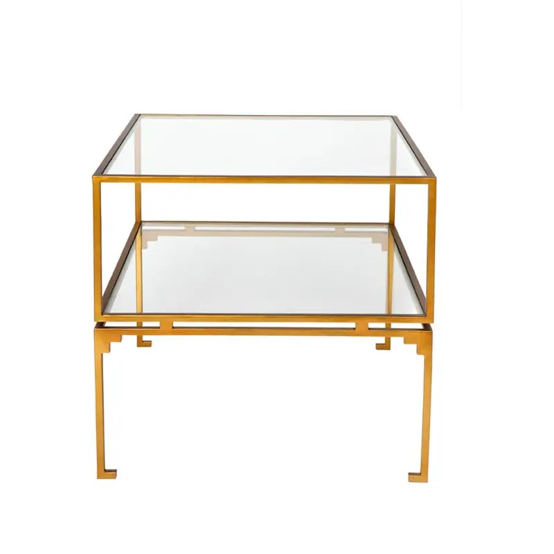 Florence Side Table Square Antique Gold