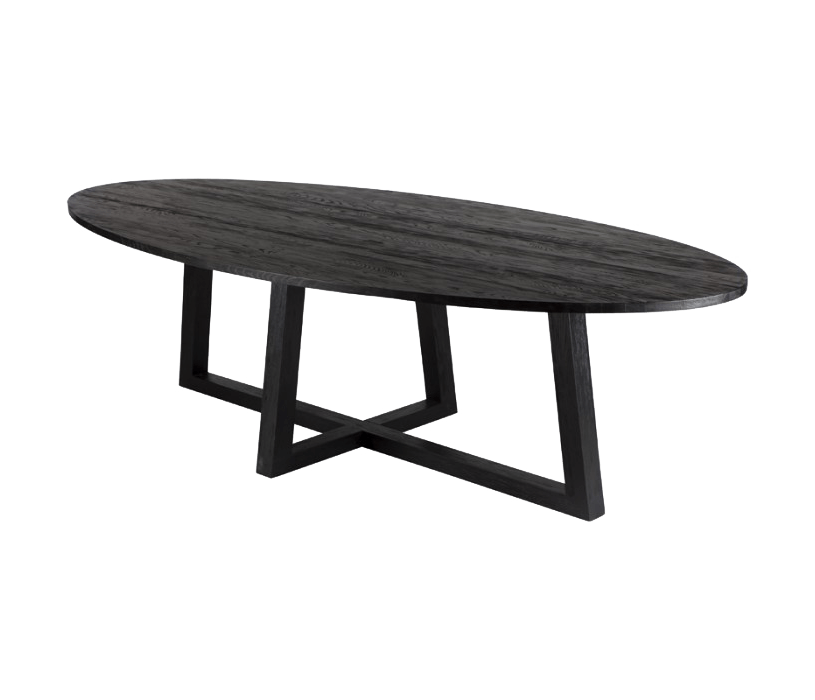 OVALIS Dining Table Grande Rustic Black