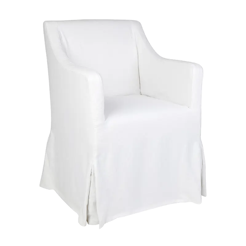 Saint Malo Dining Chair Crisp White Angle
