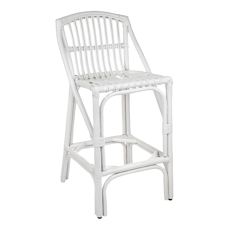 Orient Bay White Cane Armchair angle