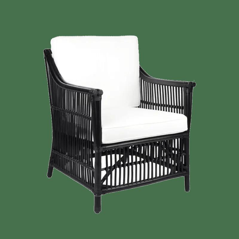 Orient Bay Black Cane Armchair