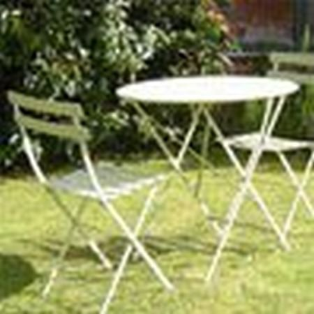 french bistro table and chairs uk cheap chair covers canada metal garden furniture set 96cm 4