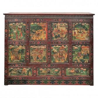 cabinet tibetain d epoque qing