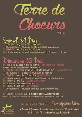 Programmation Terre de Choeurs - 2014-05-24