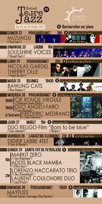Programme Terre de Jazz 2017