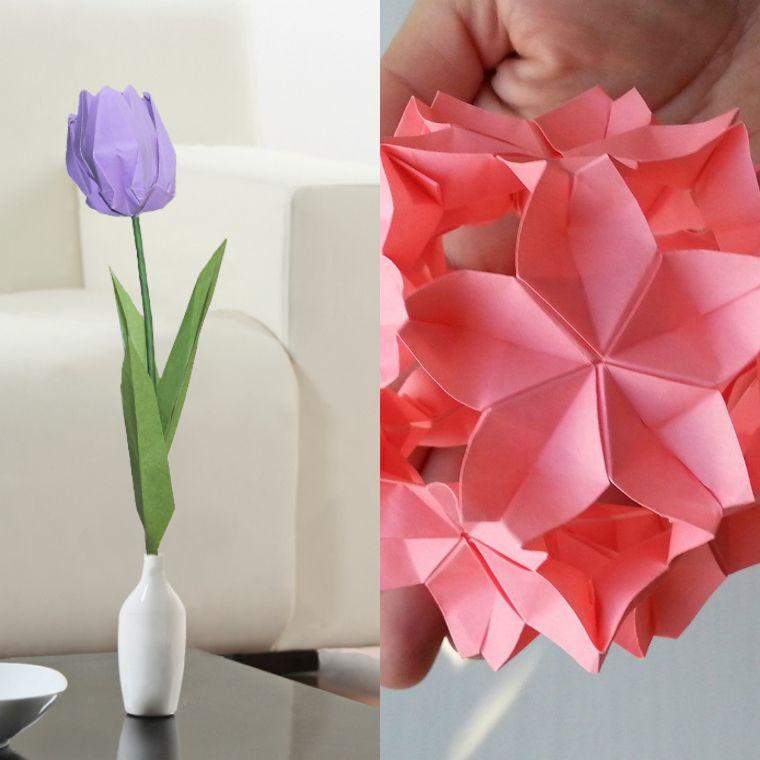Origami Fleur L Art Japonais Se Met Au Service De La Diy Deco Florale La Maison Diy