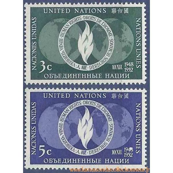 Timbre Collection ONU New York N Yvert Et Tellier 1314
