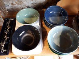 bols en terre cuite emaillés