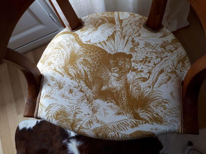 Détail assise chaise Empire