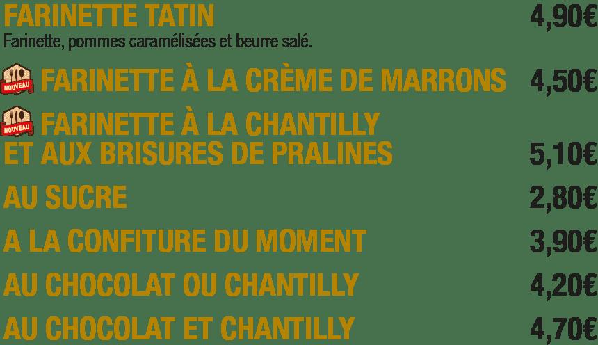 Les farinettes de La Mangoune