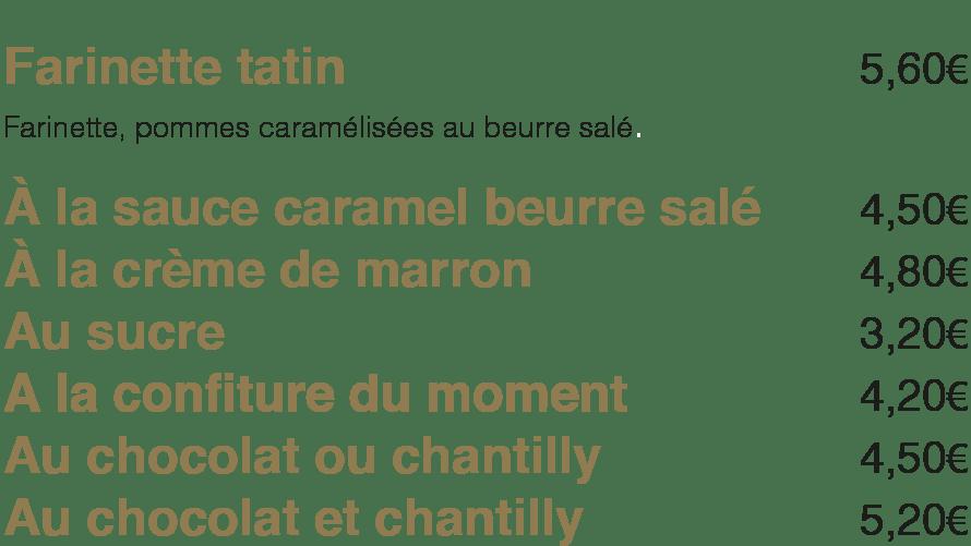 Les Farinettes à La Mangoune