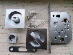 kit maniglie per porta scrigno scorrevole nottolino e serratura