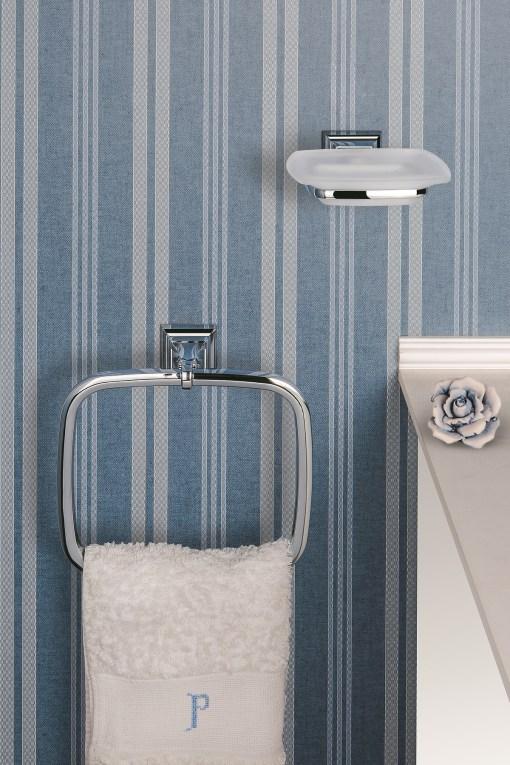 Colombo Design Arredo Bagno Portofino B3231 Porta salvietta ad anello Cromo