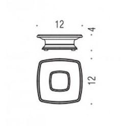 Colombo Design Arredo Bagno Portofino B3242 Porta Sapone d'appoggio Cromo vetro acidato naturale
