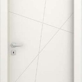quatre ADEA PORTE INTERNE Collezione Corea Quatre  Legno Laccato Bianco cerniere 3D serratura magnetica