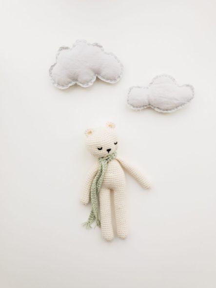 Doudou qui déprime et nuages gris