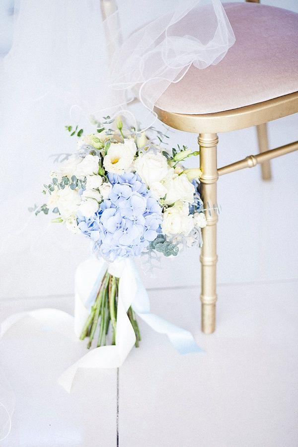 Bouquet de la mariée bleu