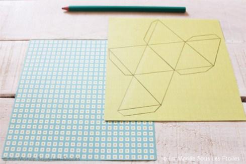 DIY {Do It Yourself} Marque-places géométriques en origami |Etape 2 : reproduire le gabarit par La Mariée Sous Les Etoiles