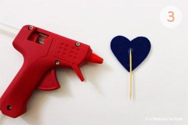 {DIY} Cake topper en cœur pailleté | Atelier Do It Yourself : Etape 2 : Collage | La Mariée Sous Les Etoiles | Blog Mariage