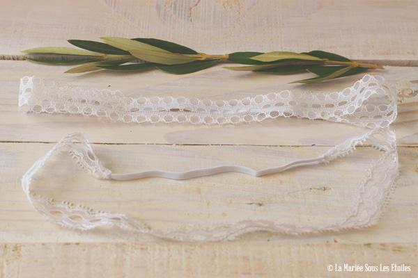{DIY} Fabriquer un headband dentelle pour sa coiffure de mariée | Atelier Do It Yourself {DIY} | Blog Mariage | La Mariée Sous Les Etoiles