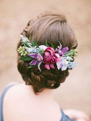 Couronne de fleurs mariage |Blue-and-Berry-Wedding-Inspiration-by-Anastasiya-Belik