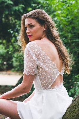 La Pétillante (dos), Adeline Bauwin   Robes de mariée Collection 2016,