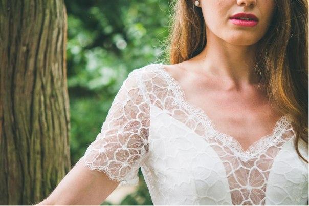 La Pétillante (détail), Adeline Bauwin   Robes de mariée Collection 2016,