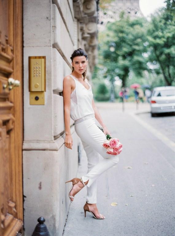 Sophie Sarfati, Collection 2016 de robes de mariée, combinaison Tandem © Lifestories : Yann Audic