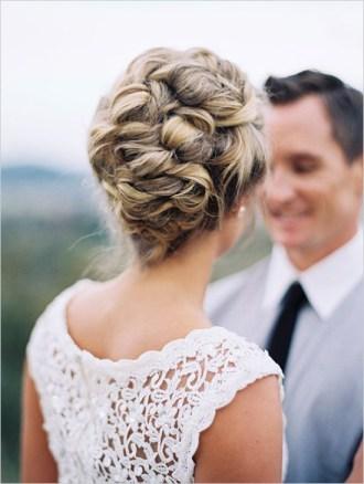 chignon mariage tressé © Anne Blodgett Photography.
