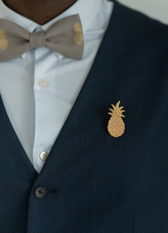 Boutonnière broche Ananas - So Hélo Collection 2016 © Cécile Creiche