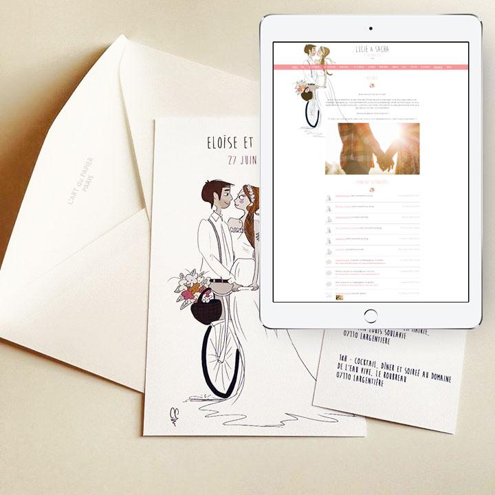 Concours - Gagne ton blog de mariage personnalisé - Petit Mariage Entre Amis X Les Faire-Part de Marie-Antoinette | La Mariée Sous Les Etoiles