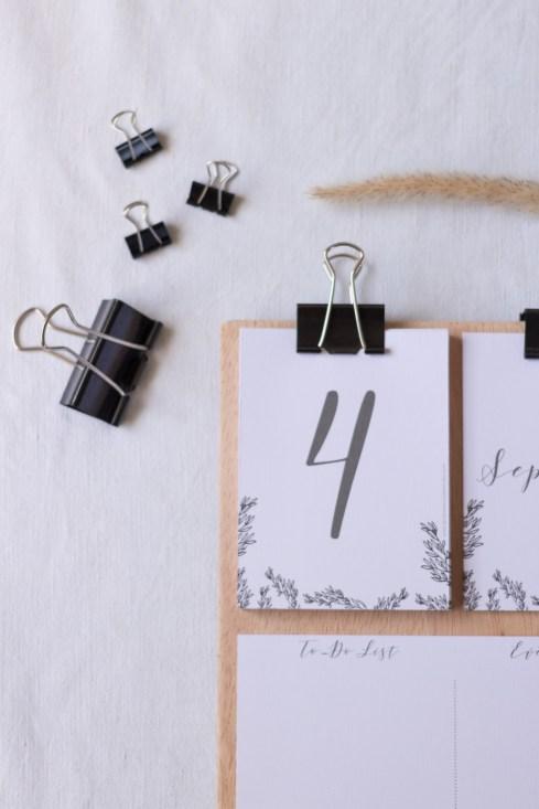 DiY Printable Calendrier DiY esprit kinfolk a imprimermade by La Mariee Sous Les Etoiles x Make My Wed